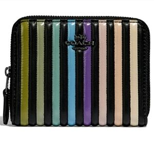 NWT Coach Sm Zip Around Wallet With Ombre Quilting